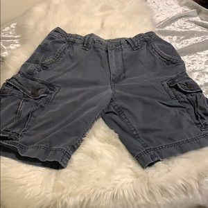 American eagle size 32 grey cargo shorts